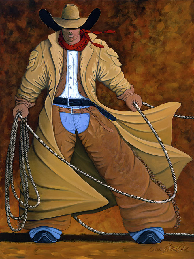 Contemporary Western Painting - Cody by Lance Headlee