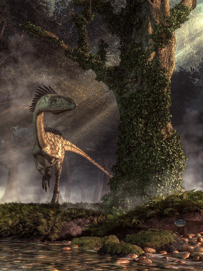 Coelophysis Digital Art - Coelophysis by Daniel Eskridge