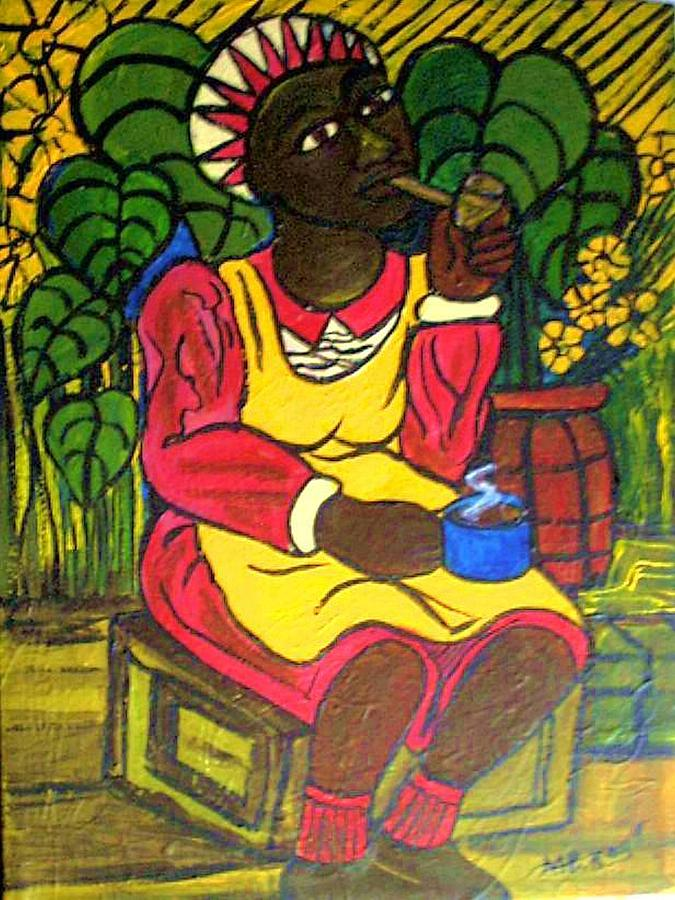 Coffee And A Smoke Painting by Kalikata MBula