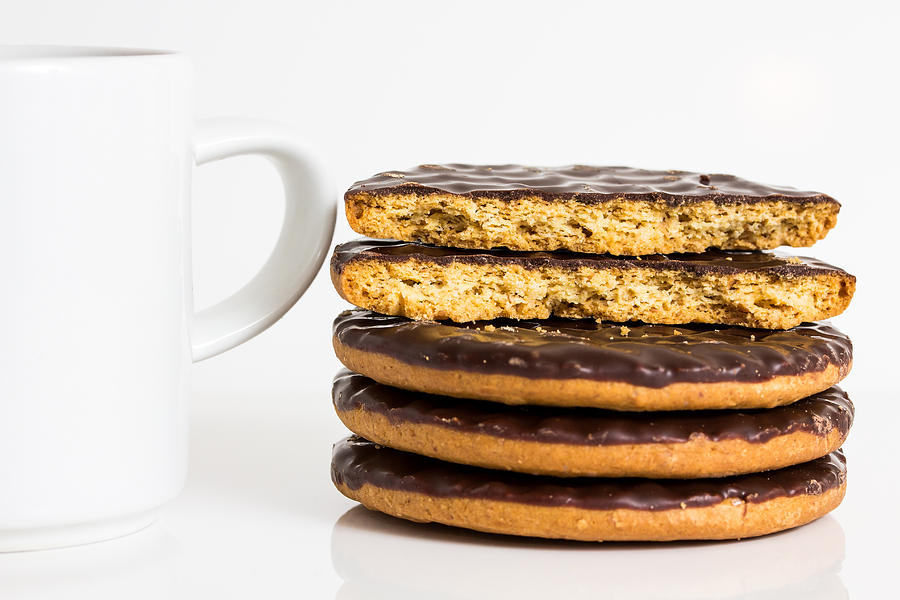 Coffee Photograph - Coffee And Cookies. by Gary Gillette