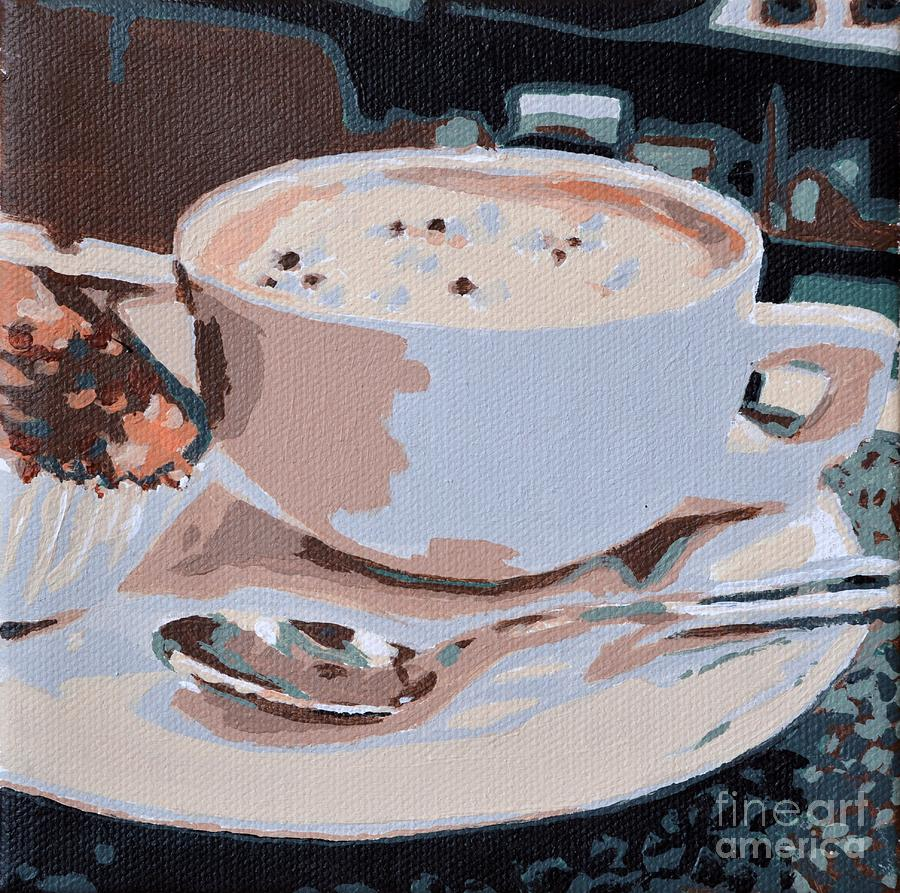 Coffee And Cupcake Painting by Laura Toth