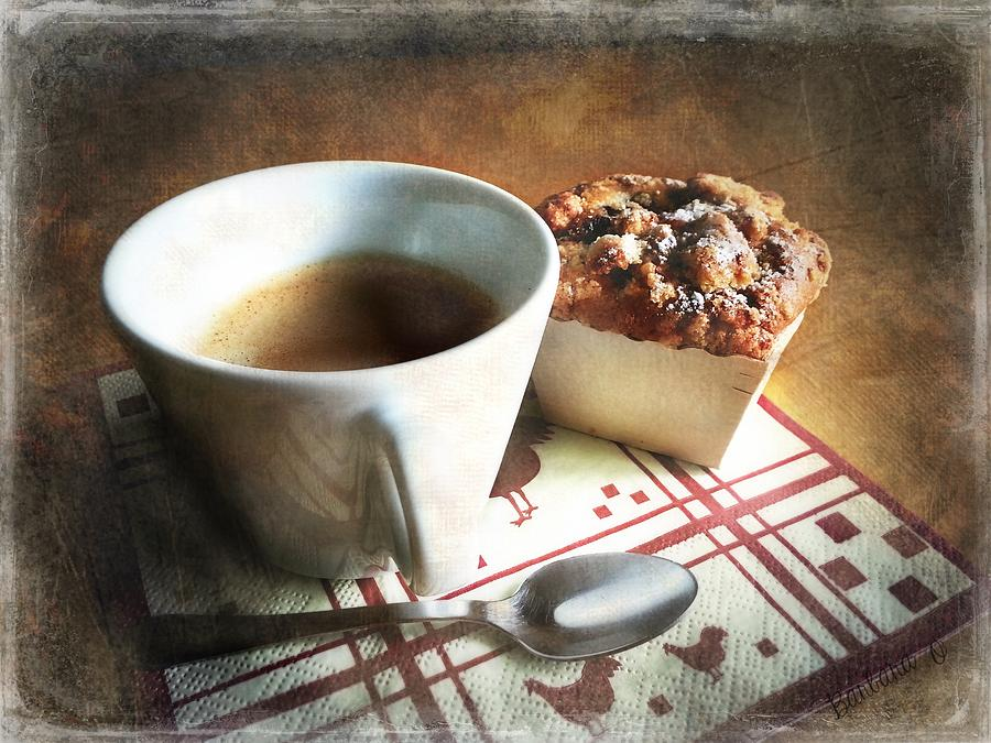 Coffee Photograph - Coffee And Muffin by Barbara Orenya