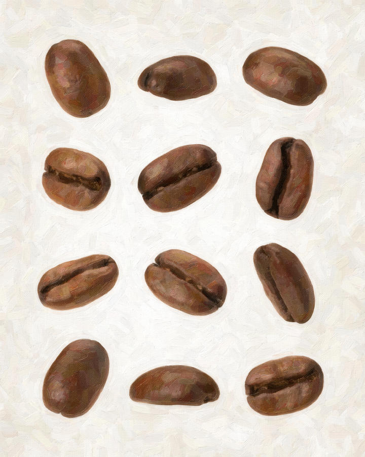 Coffee Painting - Coffee Beans by Danny Smythe