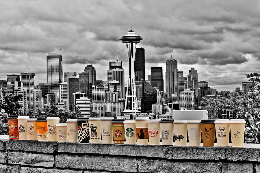 Seattle Photograph - Coffee Capital by Benjamin Yeager