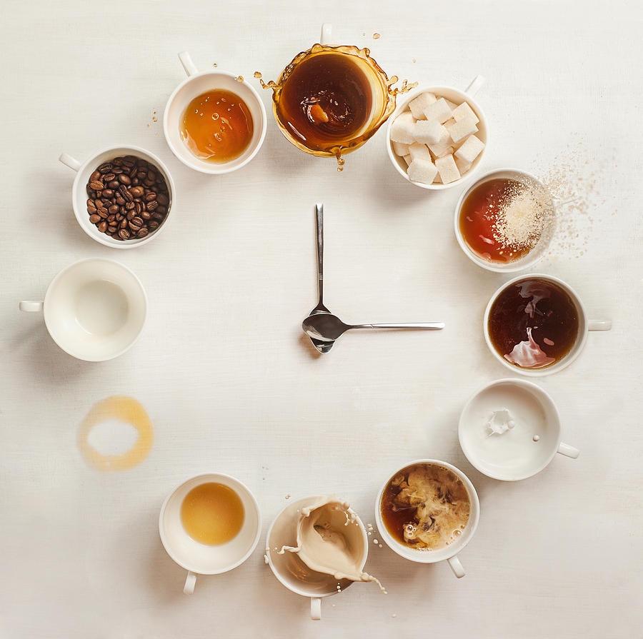 Coffee Clock Photograph by Dina Belenko Photography