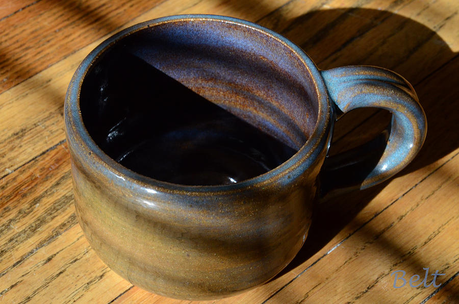 Coffee Cup Ceramic Art - Coffee Connoisseur No.3 by Christine Belt