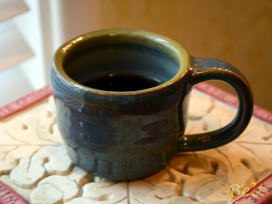 Coffee Cup Ceramic Art - Coffee Connoisseur No.5 by Christine Belt
