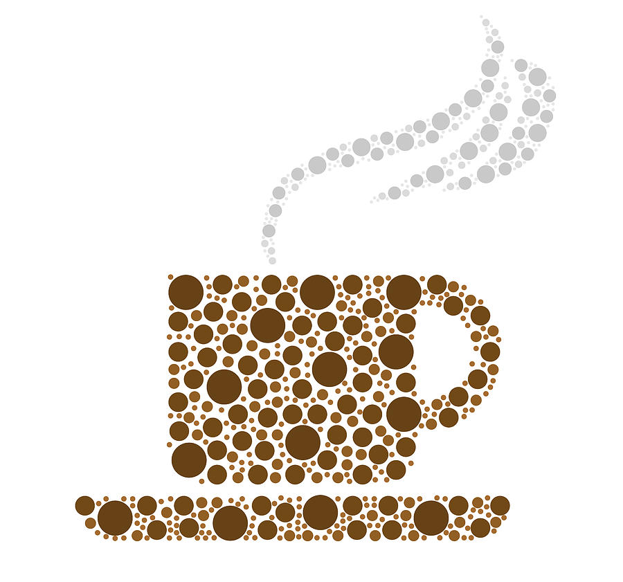 Coffee Cup. Coffee Drawing - Coffee Cup by Aged Pixel