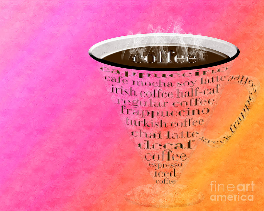 Coffee Digital Art - Coffee Cup The Jetsons Sorbet by Andee Design