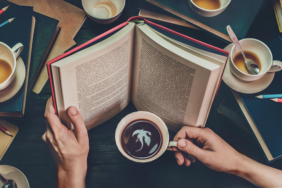 Read Photograph - Coffee For Dreamers by Dina Belenko
