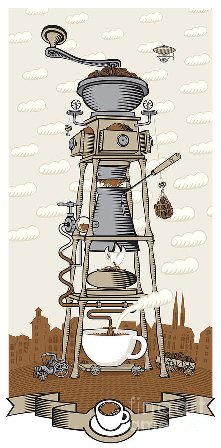 Lunch Digital Art - Coffee House In The City by Paseven