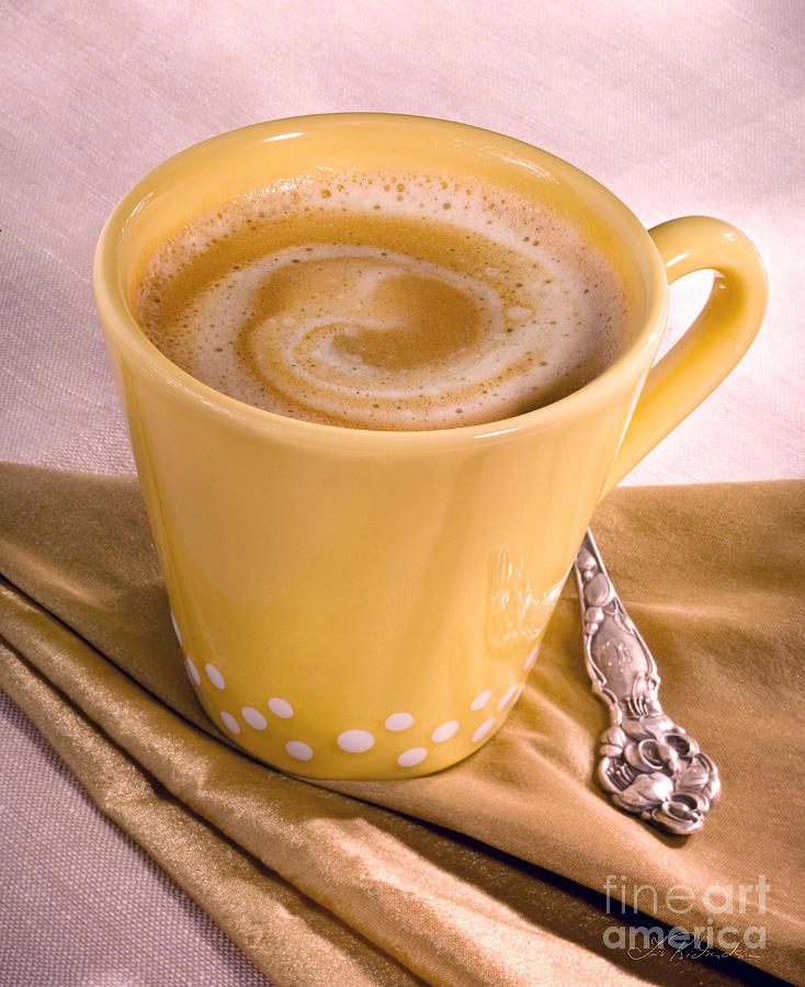 Joe Photograph - Coffee In Yellow Cup by Iris Richardson