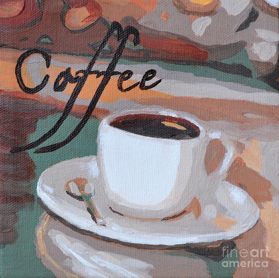 Coffee Painting by Laura Toth