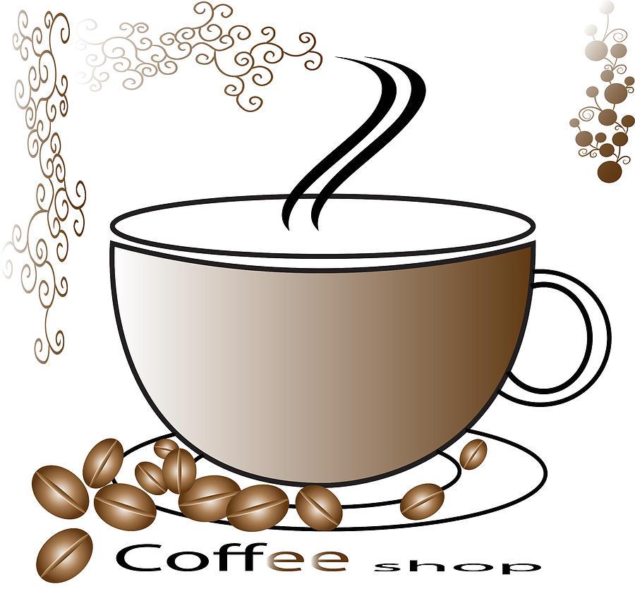 Coffee Logo Digital Art by Dumitrascu Andrei