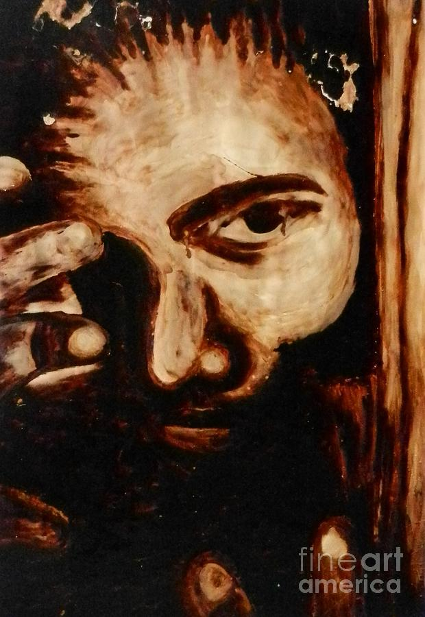 Coffee Painting - Coffee Portrait by Juan Molina