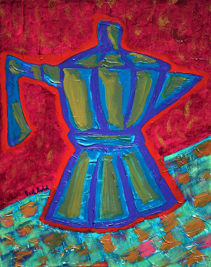 Coffee Pot Painting - Coffee Pot  by Oscar Penalber