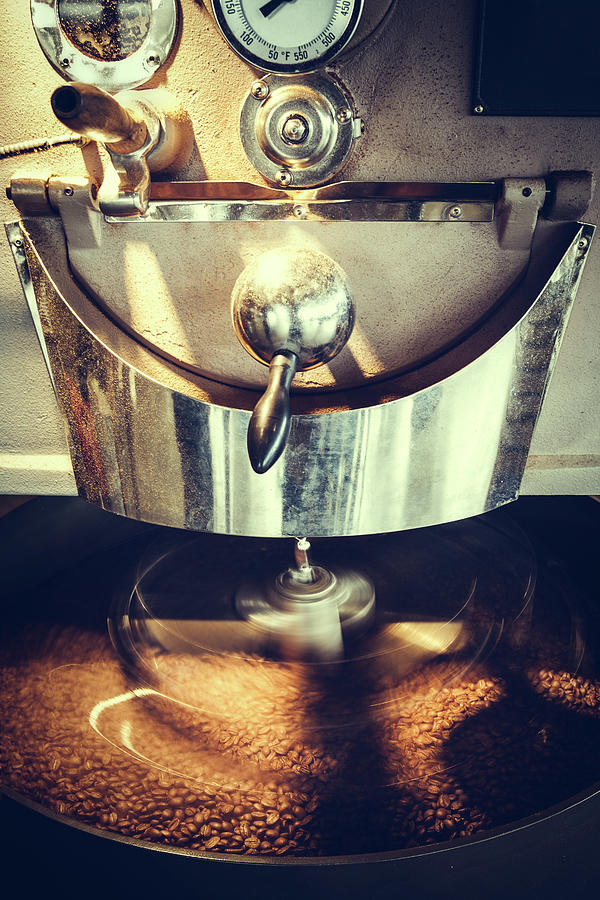 Coffee Roaster In Motion Photograph by Ryanjlane