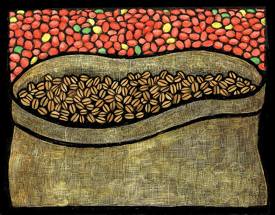 Coffee Mixed Media - Coffee Sack by Ricardo Levins Morales
