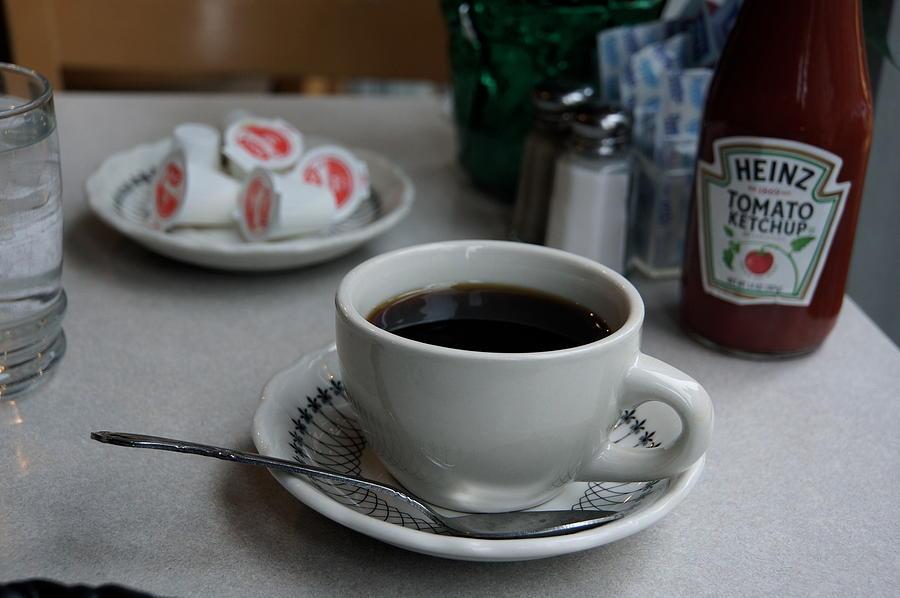 Coffee Photograph - Coffee Shop Nyc by Heidi Horowitz