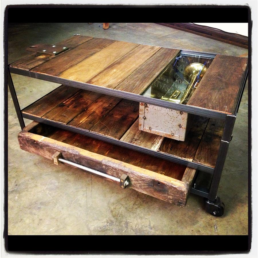 Attractive Coffee Table Mixed Media   Coffee Table With Trumpet By Benjamin Bullins
