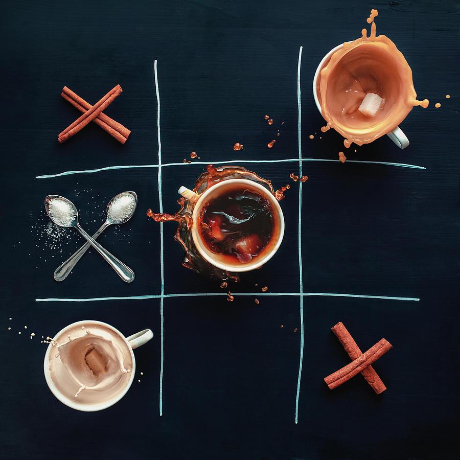 Coffee Tic-tac-toe Photograph by Dina Belenko Photography