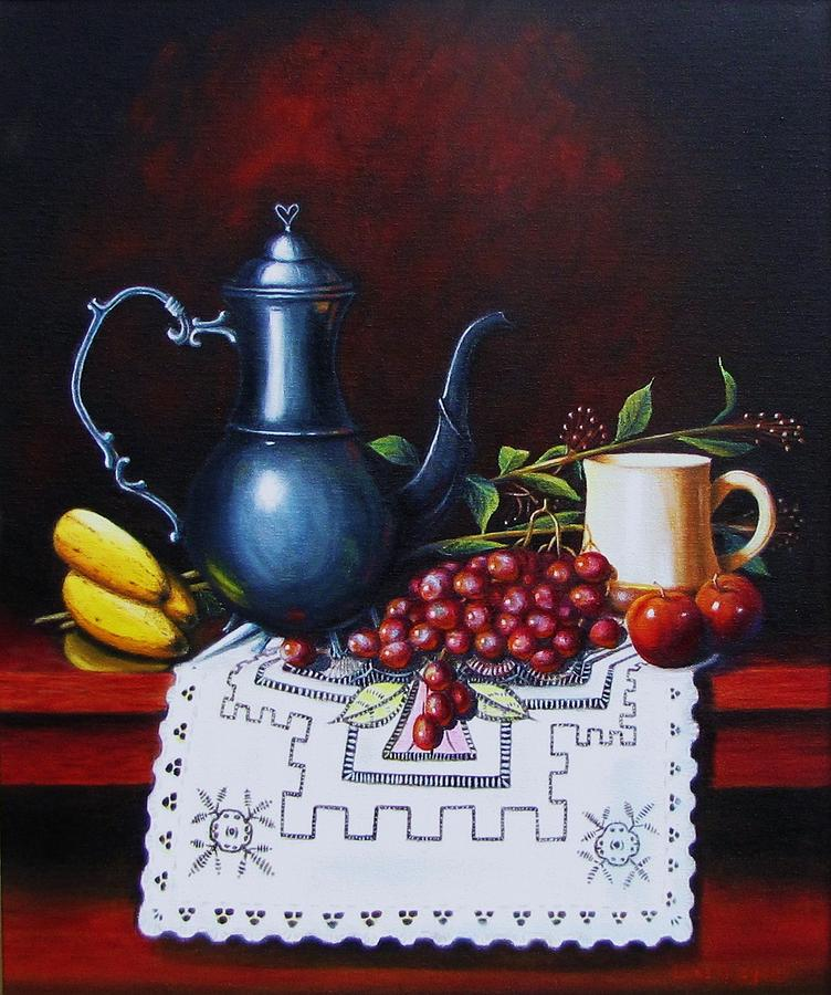 Still Life Painting - Coffee Time by Gene Gregory