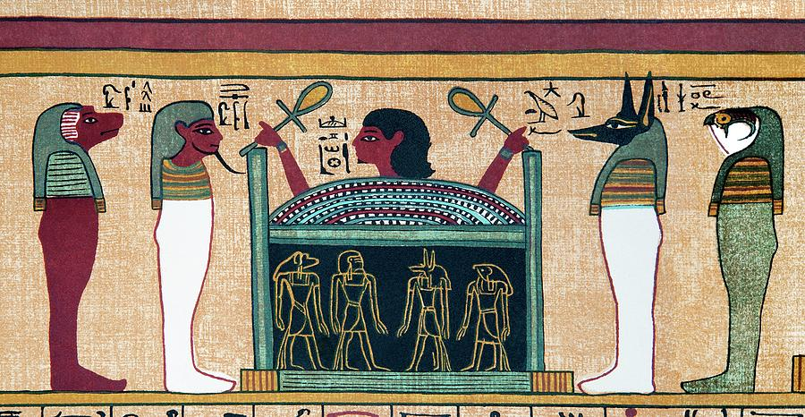 Book Of The Dead Photograph - Coffin Of Osiris by Sheila Terry/science Photo Library