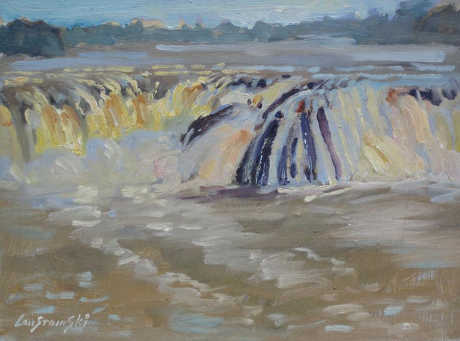 New York Painting - Cohoes Falls by Len Stomski