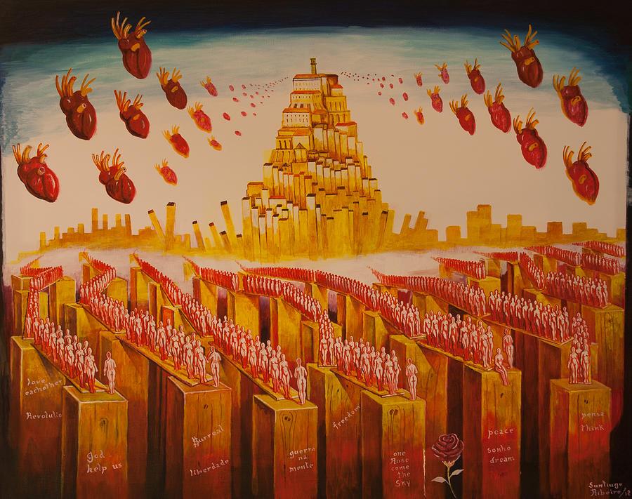 Coimbras Hearts Painting by Santiago Ribeiro