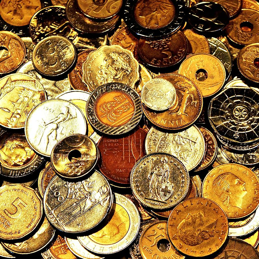 Coins Photograph - Coinage by Benjamin Yeager