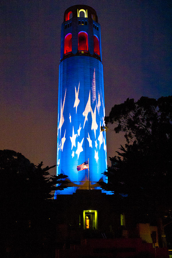 Coit Tower Photograph - Coit Tower On The Anniversary Of 9/11 by Patricia Sanders