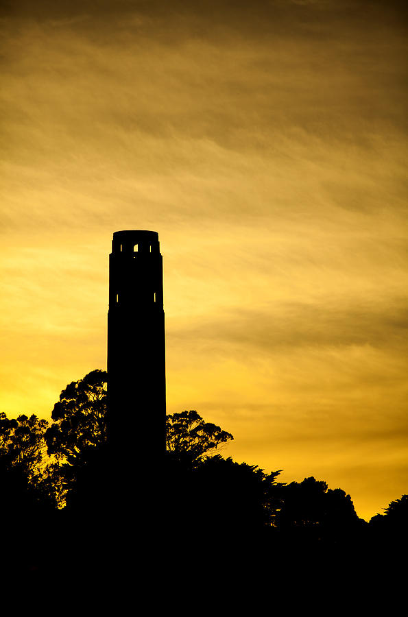 Coit Tower Photograph - Coit Tower Silhouette by SFPhotoStore