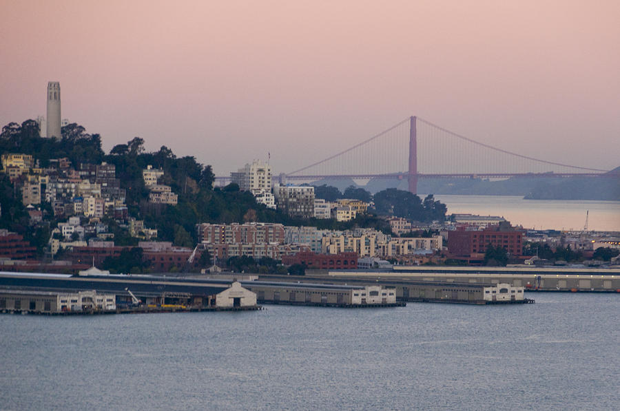 Coit Tower Photograph - Coit Tower Sits Prominently On Top Of Telegraph Hill In San Francisco by Scott Lenhart