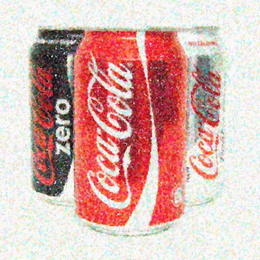 Can Photograph - Coka Cola Pointillism by Antony McAulay