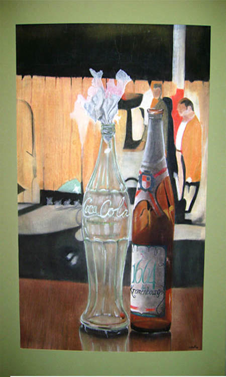 Pastel Painting - Coke And A Beer At Montmarte by Cheryl Williams