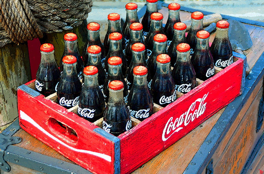 Artwork Painting - Coke Case by David Lee Thompson