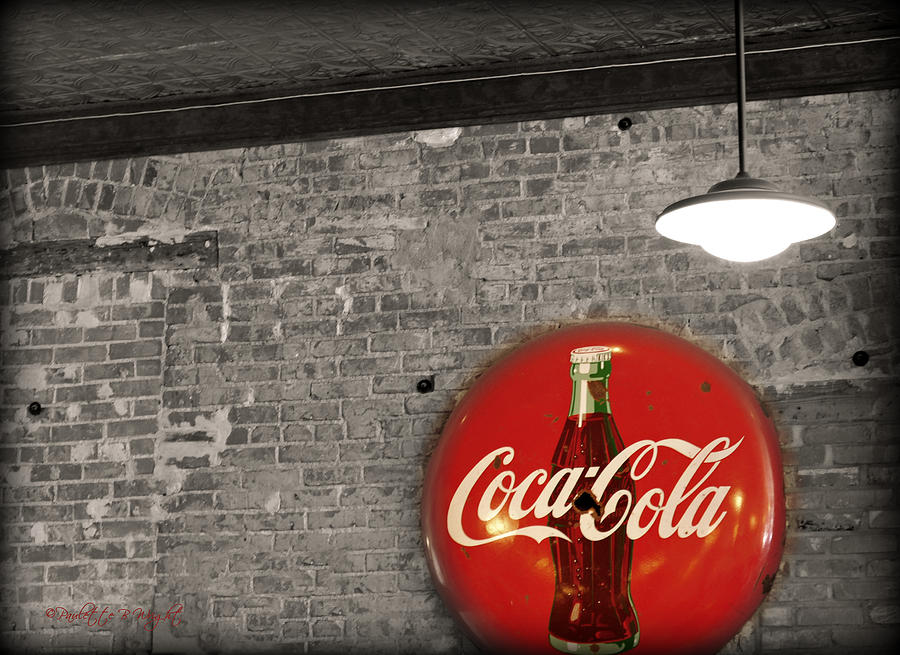 Inside Photograph - Coke Cola Sign by Paulette B Wright
