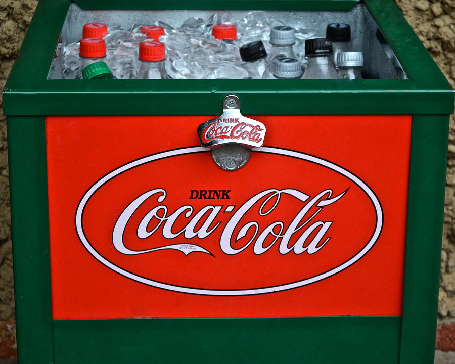 Coca Photograph - Coke Cooler by Frozen in Time Fine Art Photography