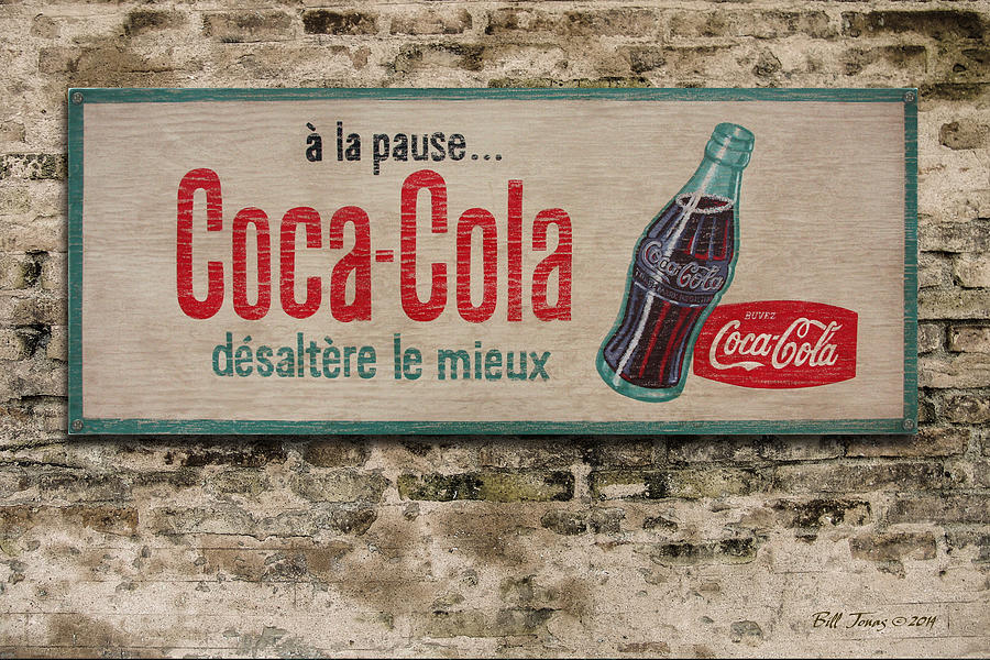 Sign Painting - Cola Sign by Bill Jonas