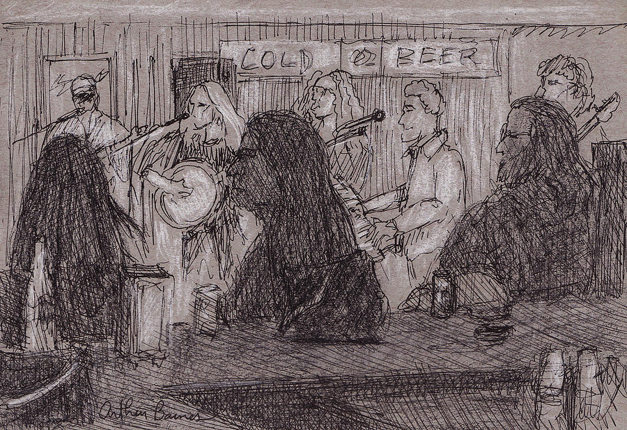 Music Drawing - Cold Beer by Arthur Barnes