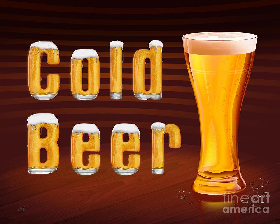 Beer Digital Art - Cold Beer by Peter Awax