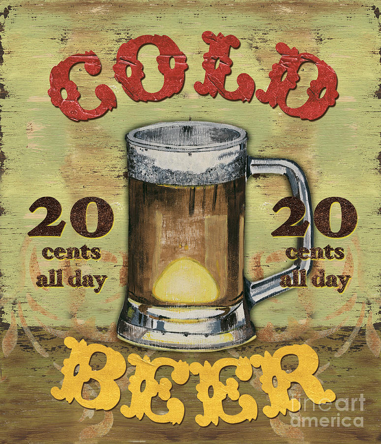 Food Painting - Cold Beer by Debbie DeWitt