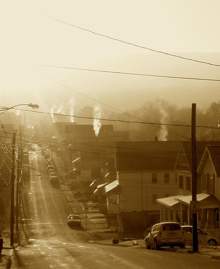 Morning Photograph - Cold Coal Town Morning by Feva  Fotos