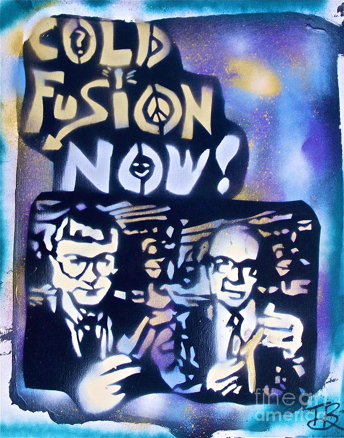 Graffiti Painting - Cold Fusion Now Blue by Tony B Conscious