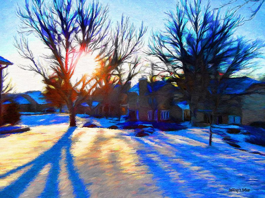 Cold Painting - Cold Morning Sun by Jeff Kolker