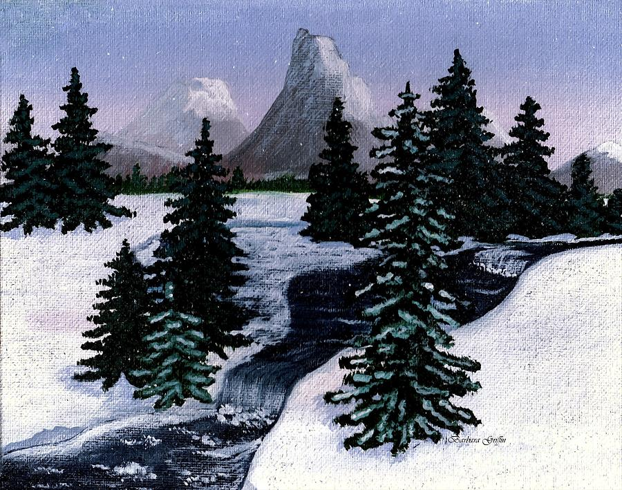 Mountain Brook Painting - Cold Mountain Brook Painterly by Barbara Griffin