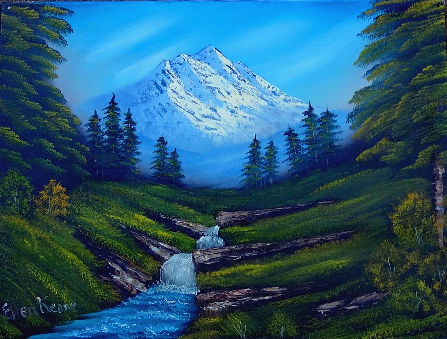 Snow Capped Mountain Painting - Cold Mountain by Fineartist Ellen