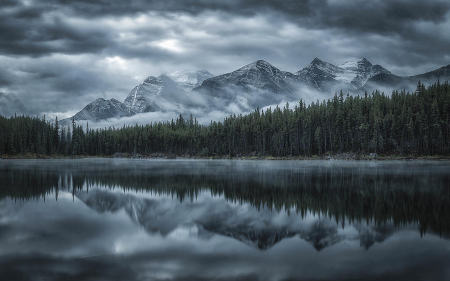 Canada Photograph - Cold Mountains by Michael Zheng