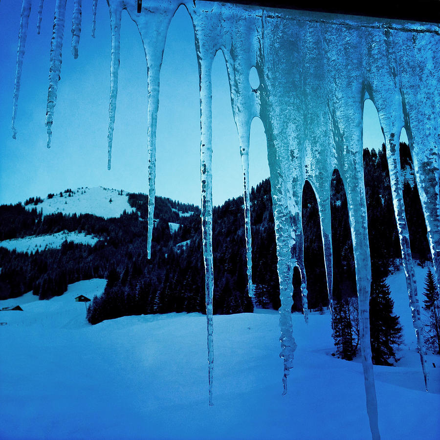 Icicles Photograph - Cold Outside - Icicles In Winter by Matthias Hauser