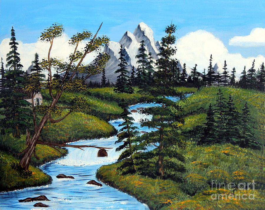 Barbara Griffin Painting - Cold Rattling Brook  by Barbara Griffin
